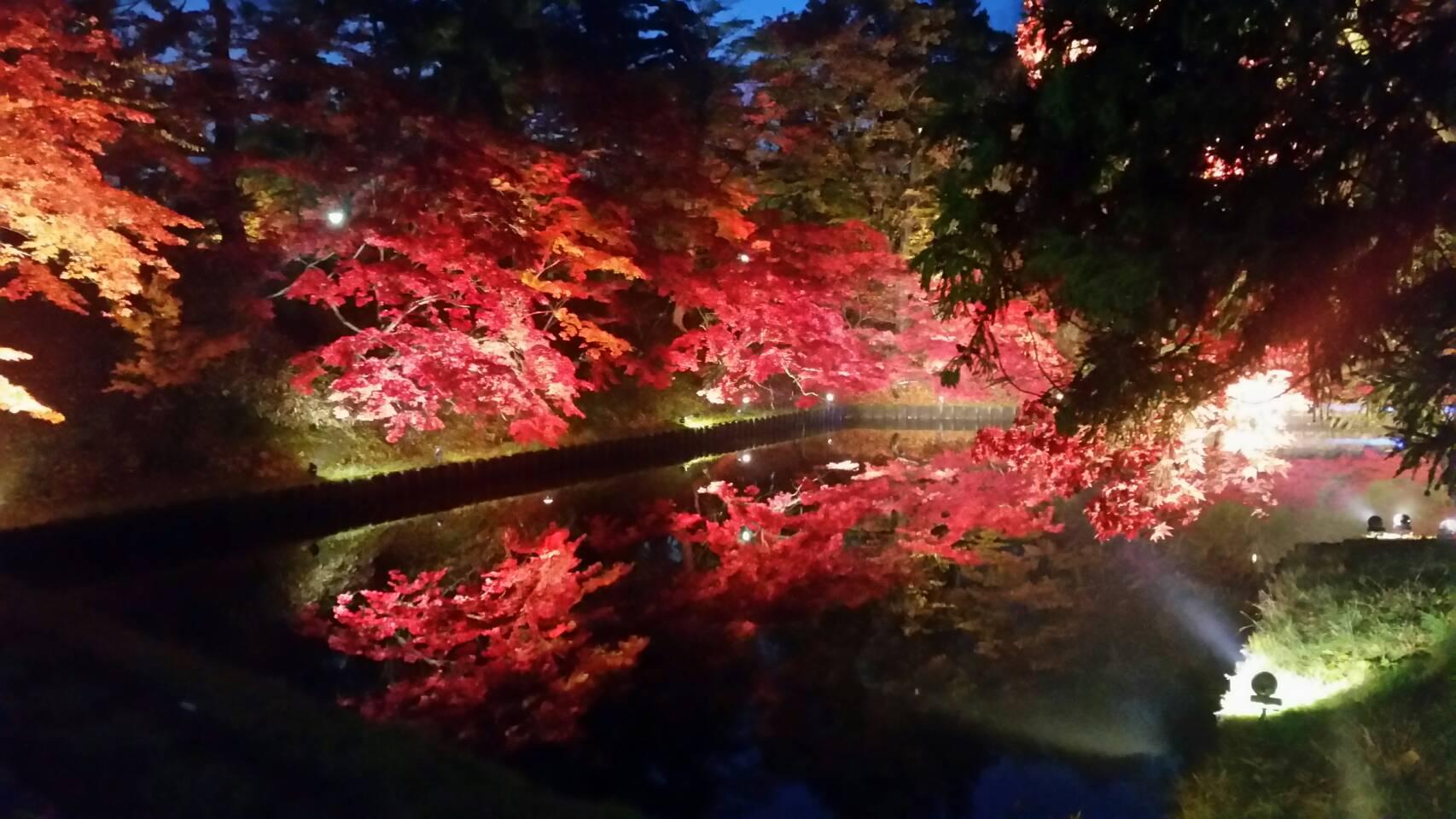 弘前城 紅葉2